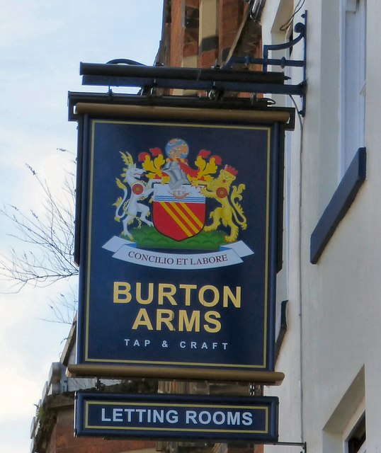 Sign of the Burton Arms