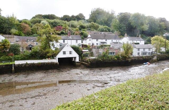 Houses on the Eastern side of the creek, Helford village, Cornwall