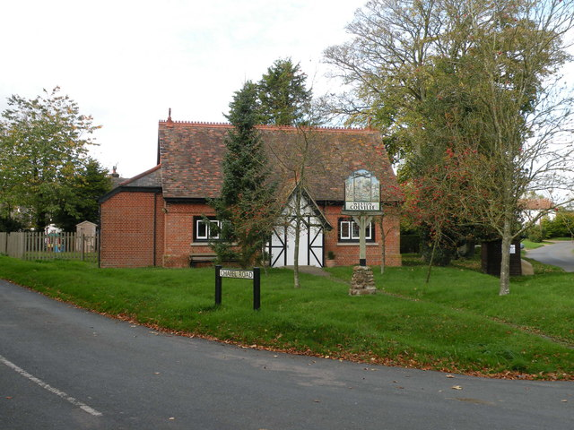 Village Sign and Reading Room, Weston Colville