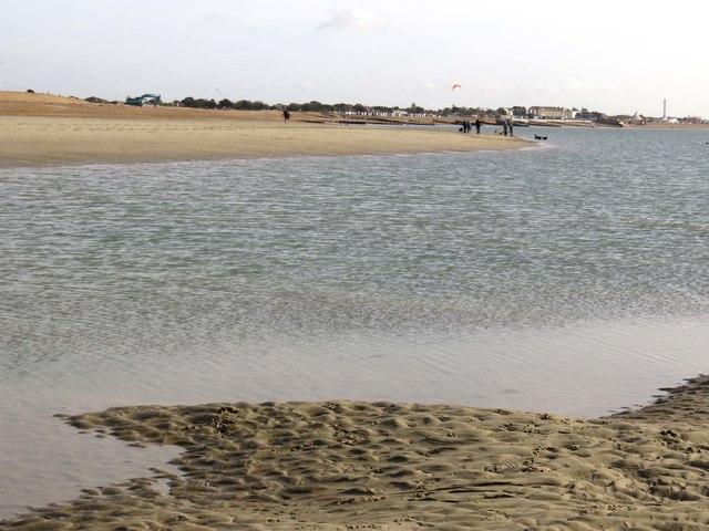 The beach by Gunner Point