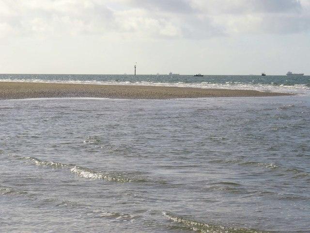 Sand bar by Gunner Point