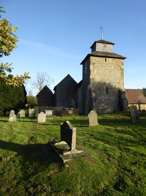 Wotton church, with north chapel and mausoleum