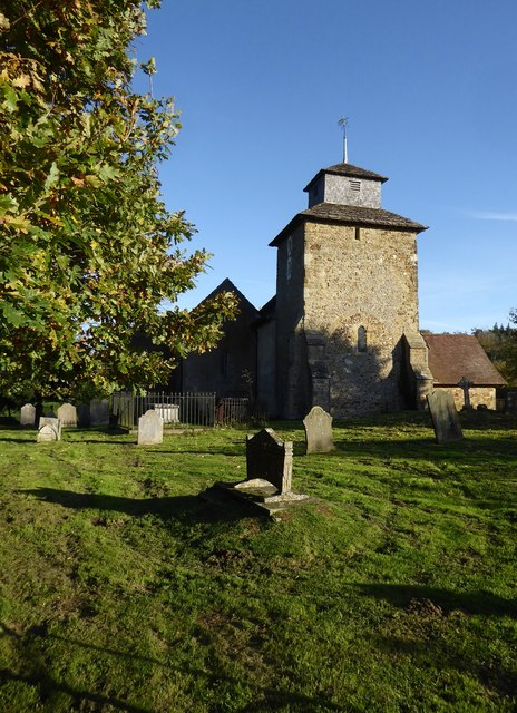 Wotton church from the north-west