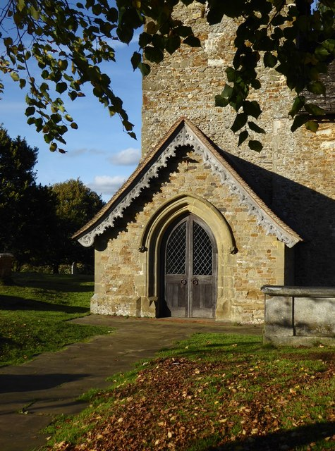 St John's church, Wotton: porch and tower