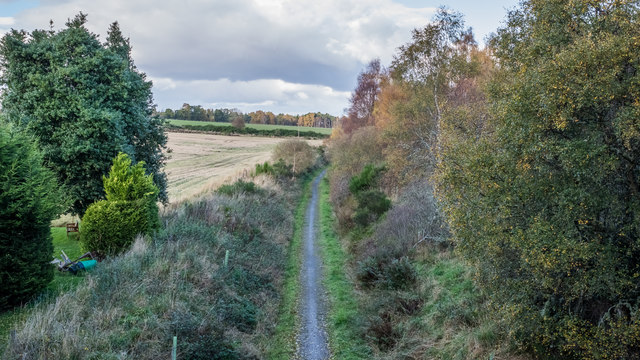 Old railway at Dunphail