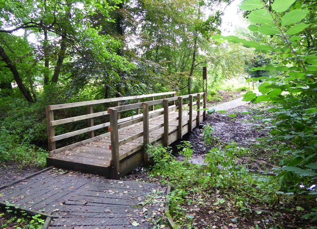 Footbridge in Spennells Valley Nature Reserve, Kidderminster