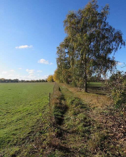 Hinxworth: footpath to Hinxworth Place