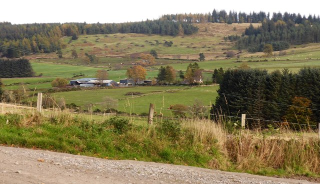 View eastwards from road junction north of Milltown of Learney