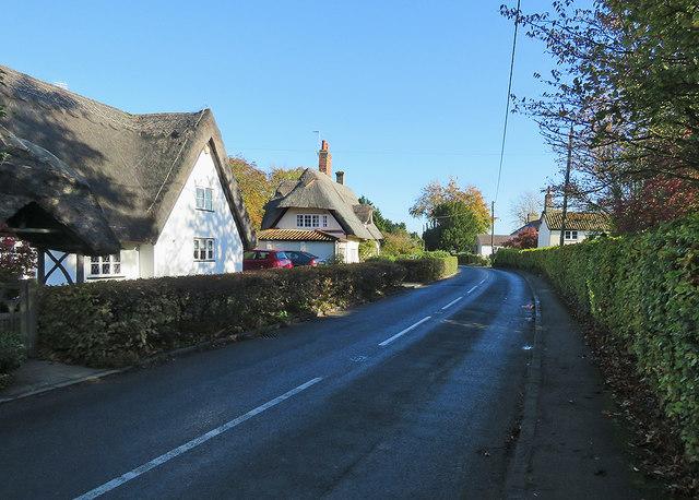 Newnham: cottages on Ashwell Road