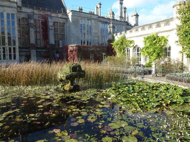 Carp pond near the Orangery at Burghley House