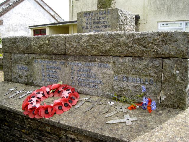 Inscriptions, Blackawton War Memorial, Main Street