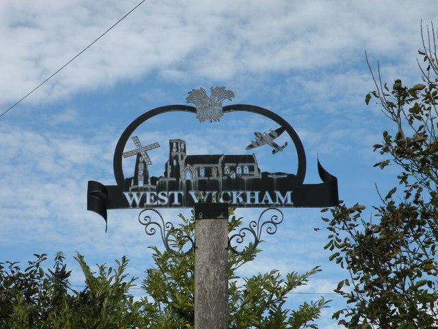 West Wickham village sign