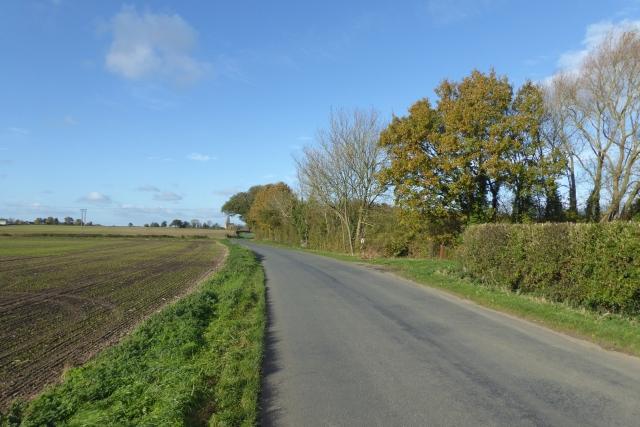 Road passing bridleway near Stillingfleet mine