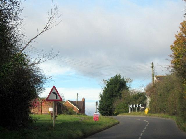 Norton Church Lane Sharp Bend