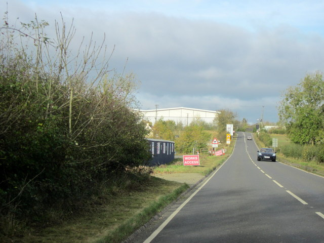 B4084 Approaching Site of Proposed Worcester Parkway Station