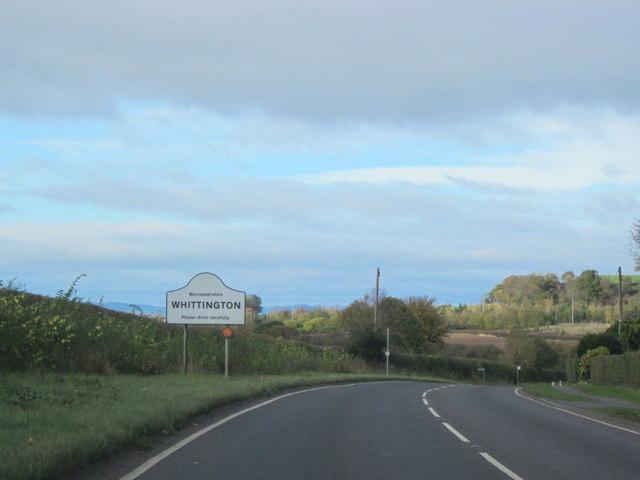 B4084 Whittington Village Sign