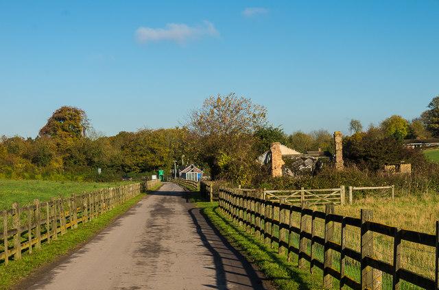 Track from Langley Bottom Farm