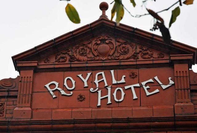 The former Royal Hotel (2) - detail, 4 Horsedge Street, Oldham