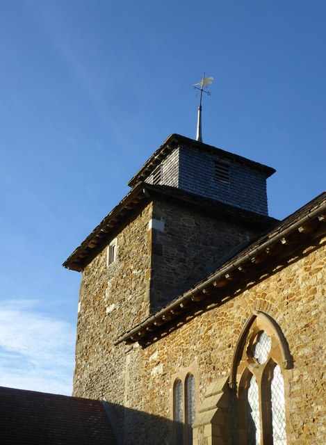 Wotton church: the tower