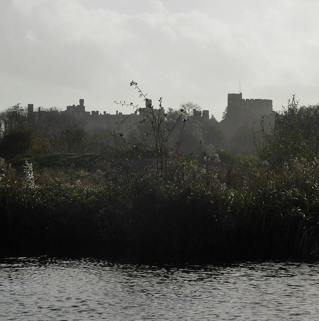 Arundel Castle from Wetland Centre