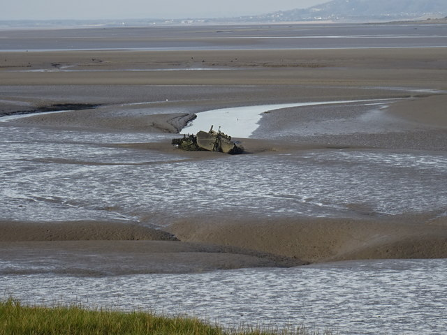 Wreck on the mud