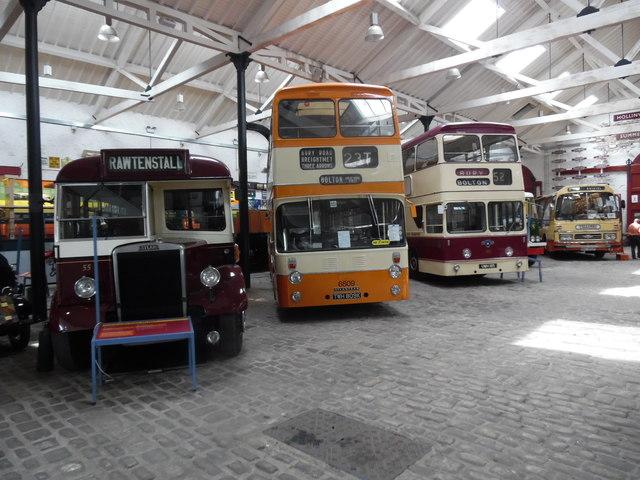 Inside Bury Transport Museum, Bury