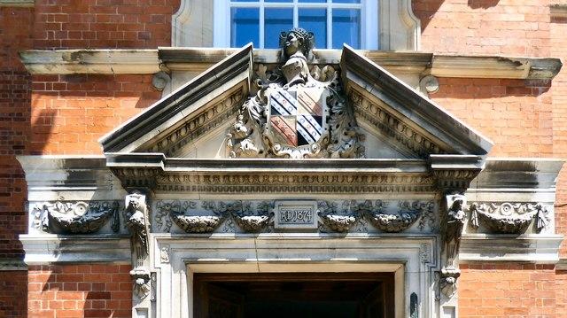 Front entrance frieze