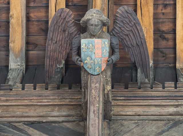St Giles, Norwich - Roof angel