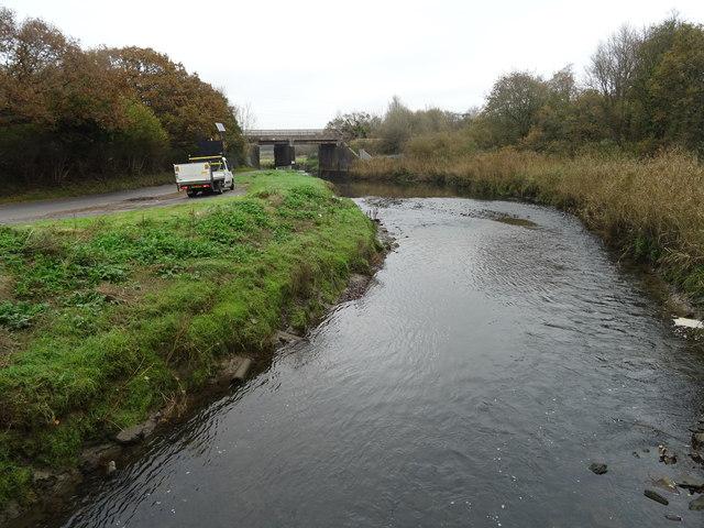 Afon Lliw looking upstream