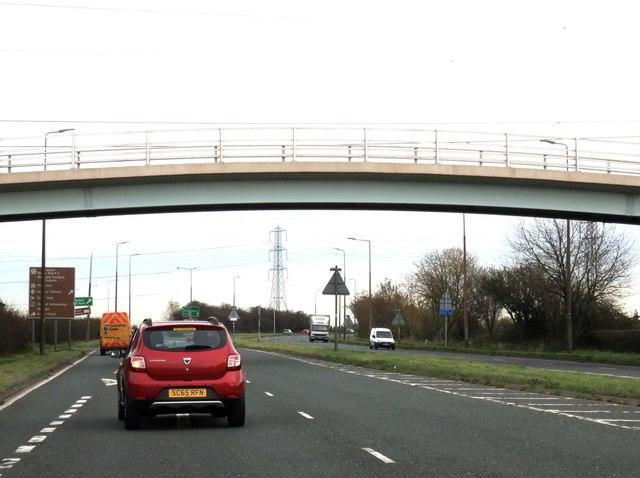 Blackpool Road heading to Preston