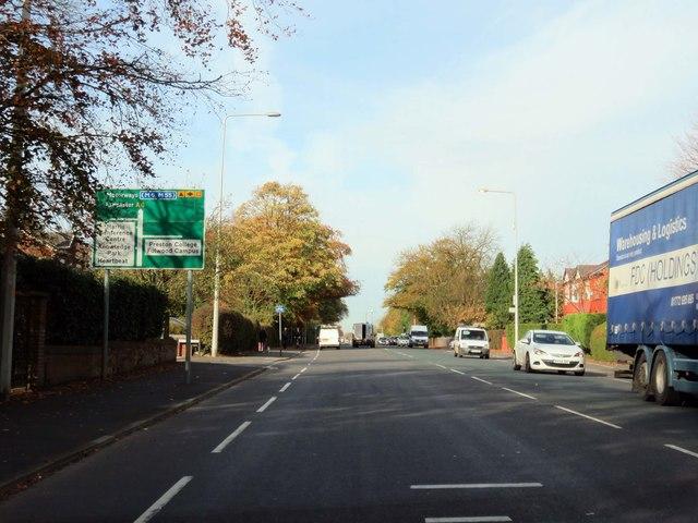 Garstang Road in Preston