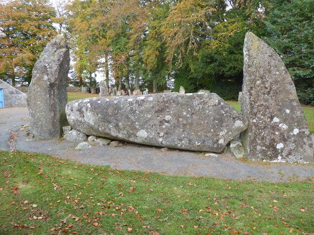 Recumbent stone slab (20T weight), Midmar Stone Circle