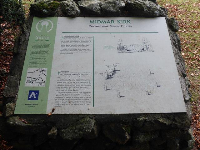 Midmar Kirk: Recumbent stone circles