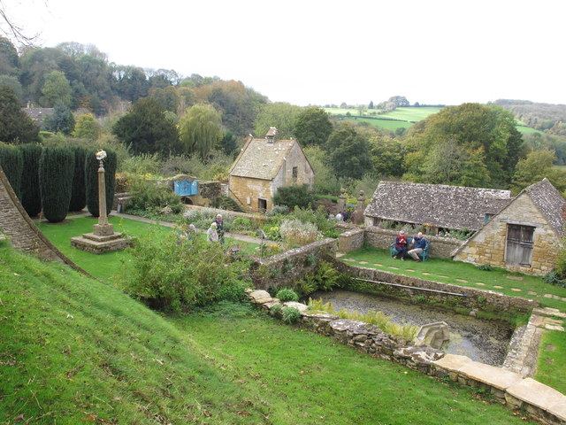 Snowshill Manor garden, outbuildings and orchard