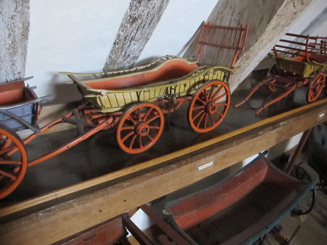 Model of Oxfordshire farm cart, Snowshill Manor