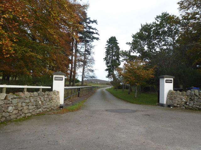 Driveway access to Upper Balblair