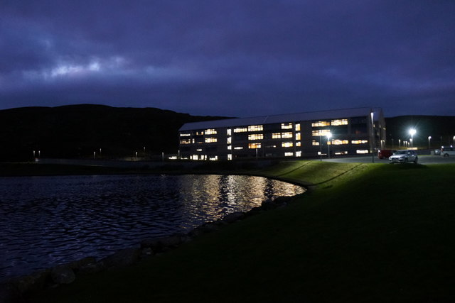 The new Anderson High School beside Loch of Clickimin, Lerwick