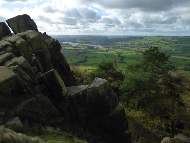 Tittesworth Reservoir seen from The Roaches
