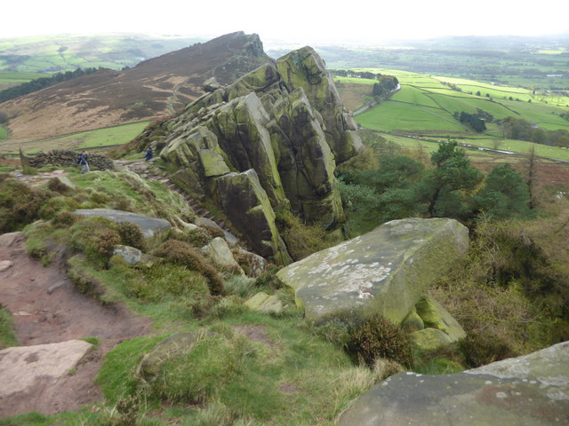 Hen Cloud from the southern end of The Roaches