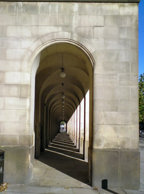 Town Hall extension colonnade