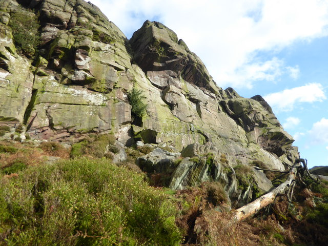 Rock face on The Roaches
