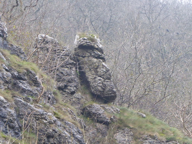 A rocky face in Dovedale