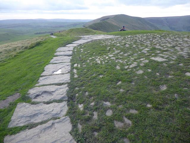 Path on the summit of Mam Tor