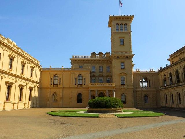 The main entrance to Osborne House
