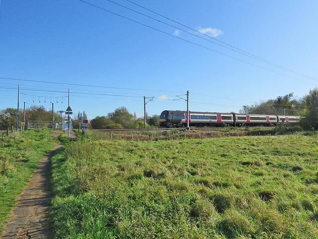 Northbound train near Whittlesford