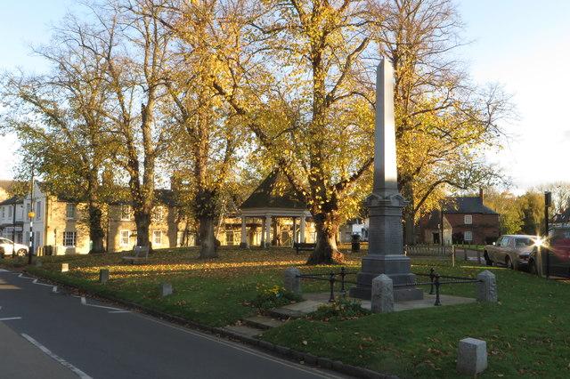 Harrold War Memorial and village green