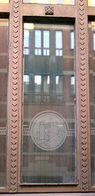10 Norfolk Street: Etched window