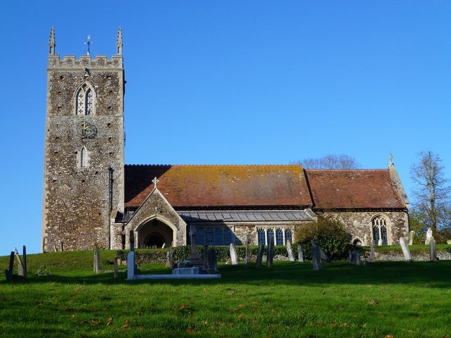 Church with tower in West Newton, Norfolk