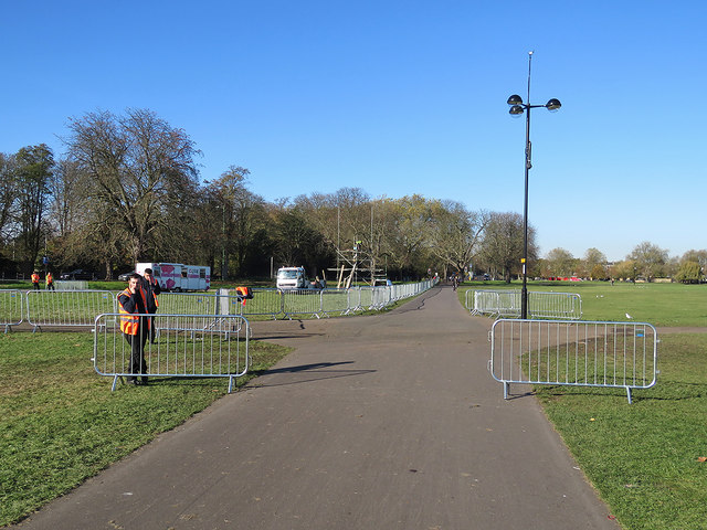 Midsummer Common: clearing up after Bonfire Night