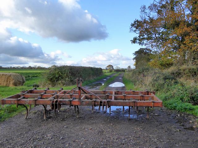 Blocked farm track, Edworth
